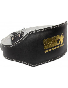 6 Inch Padded Leather Belt S/M